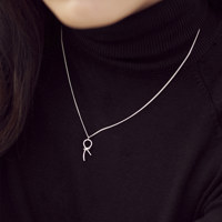 KNOT PENDANT NECKLACE (Sterling Silver)