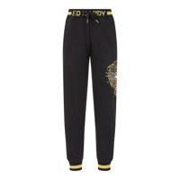U-골드타이거자수 로고시보리 배기FIT ZURRY팬츠 XL #BLACK