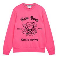 M-LKS스컬핫피스자수 레귤러FIT 맨투맨티셔츠 XL #HOT PINK