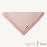 순한대나무 솜사탕 양면 스카프빕-핑크