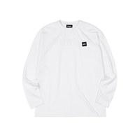 베이직 롱 슬리브 티셔츠 화이트_XS