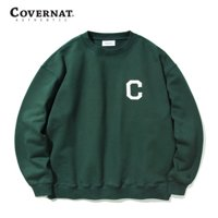 C LOGO CREWNECK BRITISH GREEN
