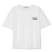 UNISEX ANNIVERSARY PAMTREE PRINT T-SHIRT atb317u(White)