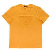 [면세전용] 빗살 엠보 ▽반팔 티셔츠