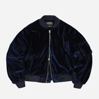 VELVET MA-1 FLIGHT JACKET _ NAVY_L