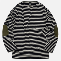 PATCH STRIPE BOATNECK _ IVORY/NAVY