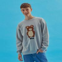 AQO ERIC BEAR SWEATSHIRTS GY 1