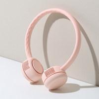 넥밴드 휴대용 선풍기 베이비핑크