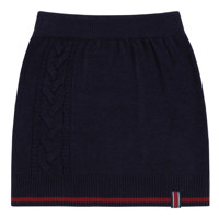 CABLE KNIT MIDI SKIRT_S_NAVY